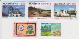 Марки Никарагуа 5 шт.