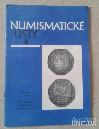 Numismaticke Listy 4 Rocnik XXIV -1969