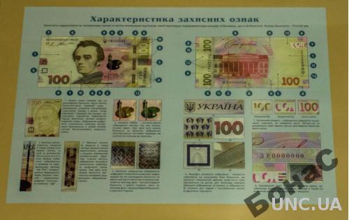 Плакат НБУ 100 гривен образца 2014 года Гонтарева