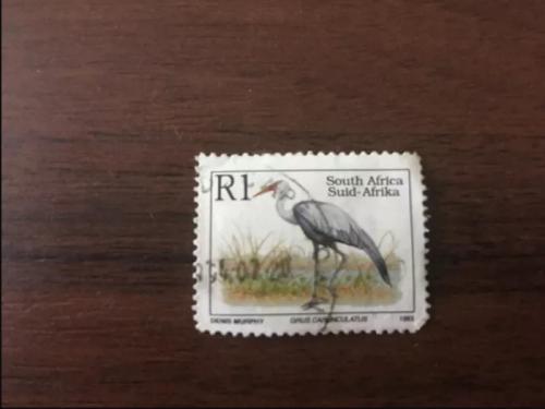 Почтовые марки ЮАР Канада 1993 фауна птицы гашеная 1 шт