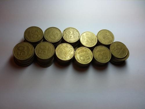 110 монет номиналом 50 копеек 1992года.