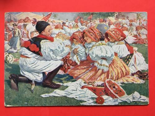 Відкритка Старої Європи ПЕЧАТКА+МАРКА (СТАН!!!) Є БАГАТО ІНШИХ ЦІКАВИХ ЛОТІВ