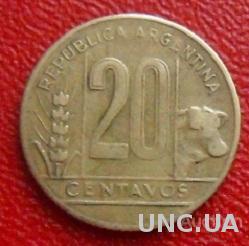 Аргентина 20 сентаво 1949 год.