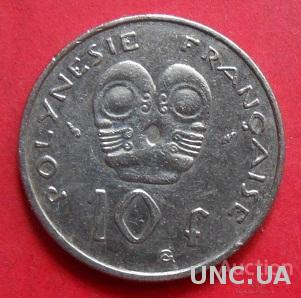 Французская Полинезия 10 франков 1982 год.