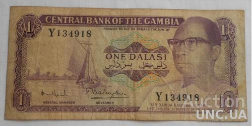 Гамбия 1 даласи 1971 год. Подпись 8.