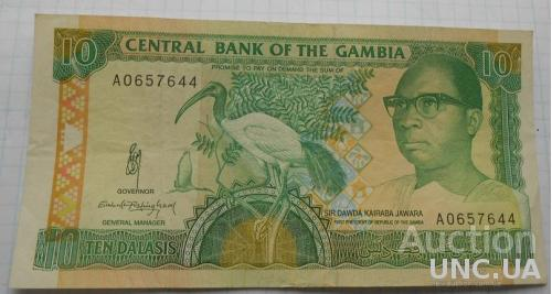 Гамбия 10 даласи 1991 год .