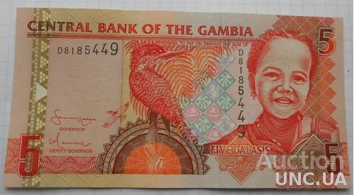 Гамбия 5 даласи 2001 год.