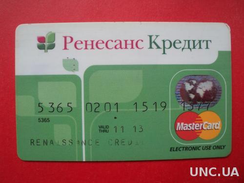 Банковская Карта Ренесанс Кредит Банк 2012 г.