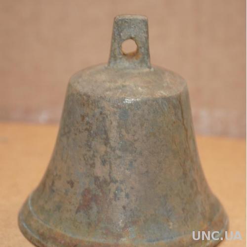 Антикварный, бронзовый колокольчик . Дзвіночок, тріщинка (див фото). №1