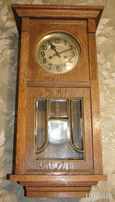 Часы антикварные настенные. Густав Беккер робочий старовинний годинник з боєм