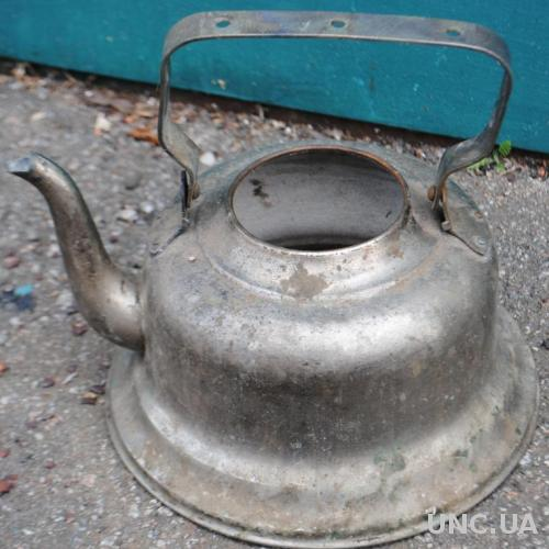 Чайник старовинний латунний нікельований в реставр