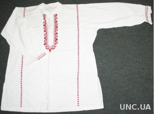 Сорочка вишита минулого століття. Вишиванка червоним по білому х б. c8486d7c436be