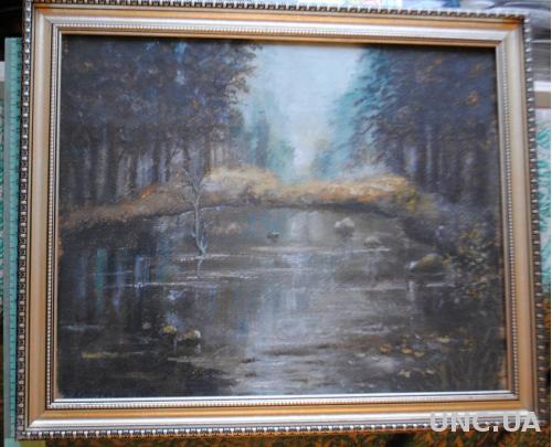 Туман. Картина, пейзаж.