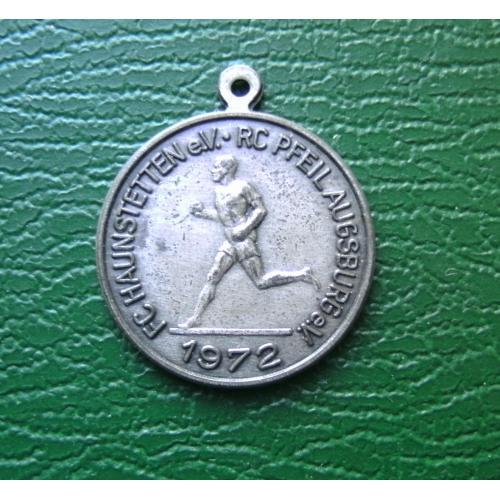 медаль Германия спорт атлетика Ag 800 6 гр