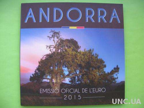 Андорра официальный набор евро монет 2015 г.