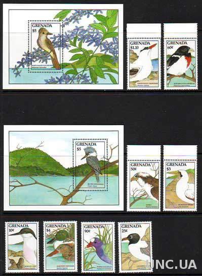 Гренада,птицы,2 блока+8 марок- 27 михель евро