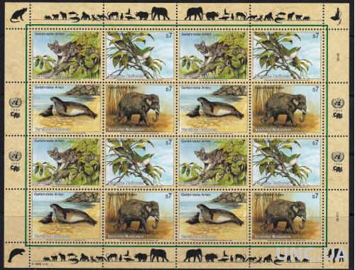 ООН Австрийский,фауна,слоны,птицы,м/л- 24 михель евро