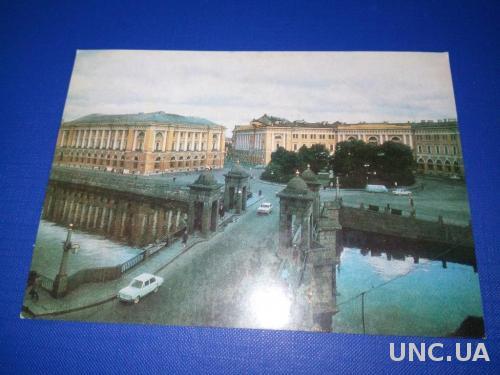 ЛЕНИНГРАД. Вид на мост и площадь Ломоносова.