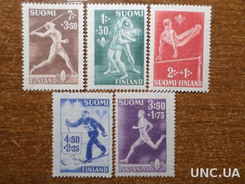 Финляндия спорт 1945 без клея