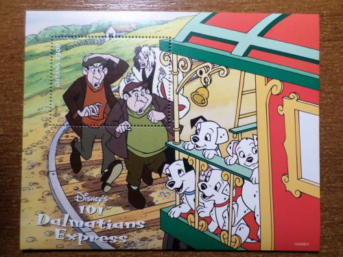 Гайана КЦ=5евро 1996 мультики собака Дисней