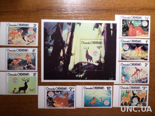 Гренада Гренадины 1980 рождество КЦ=10евро мультики