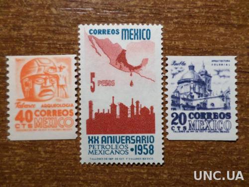 Мексика1950-1958 КЦ=21,3евро след наклейки