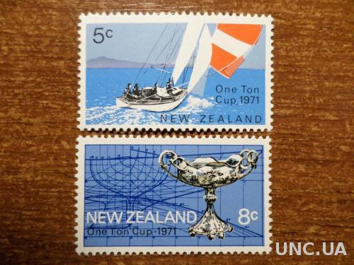 Новая Зеландия парусный спорт КЦ=1,2евро 1971