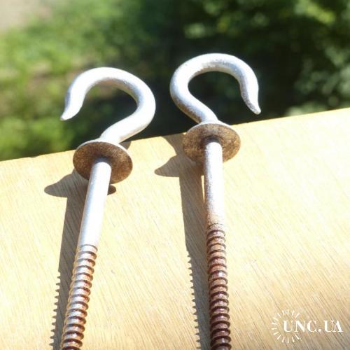 2 шт оптом -- крюк старинный - держатель люстры - Австро-Венгрия - 20 см -