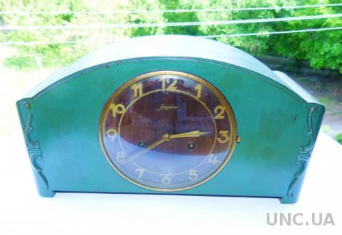 Антикварные Немецкие каминные часы Junghans 1948г. германия