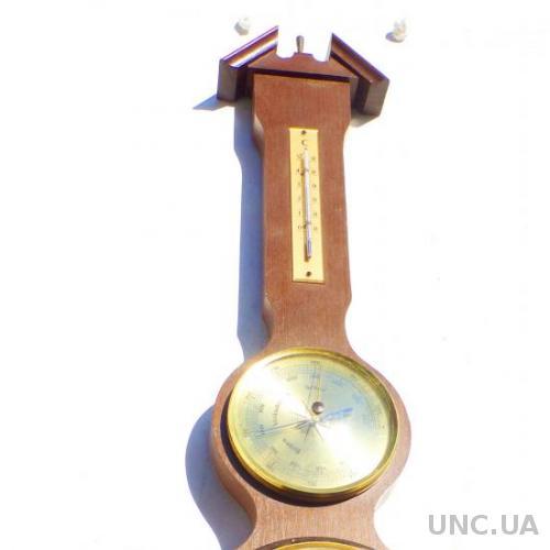Барометр, гигрометр ,часы - Германия  = метеостанция 64 см !!!  -