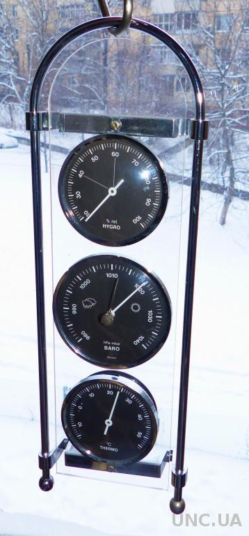 Барометр, гигрометр ... Германия  = метеостанция - 33 см -