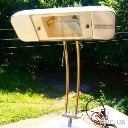 ---  настольная лампа стальная - германия - прожекторная галогенка R7s - 100w - с реле - диммером
