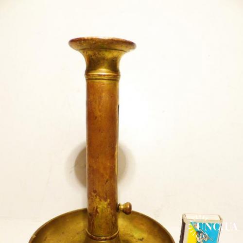 Старинный оригинальный Подсвечник - латунь-бронза -  Германия - 21 см -=-=