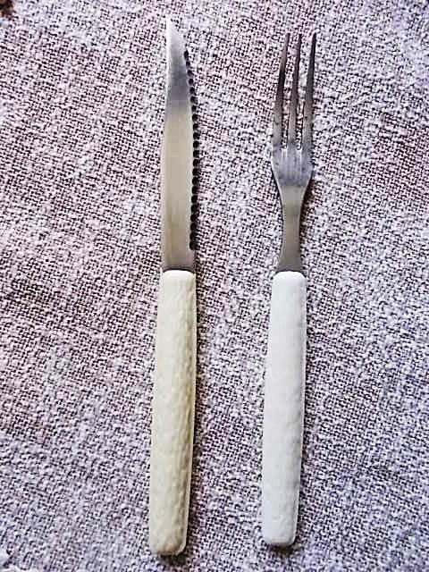 Детский столовый набор вилка и нож нержавейка из СССР