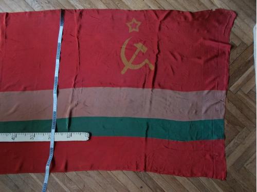 Флаг стяг натуральный крепдешин раритет СССР