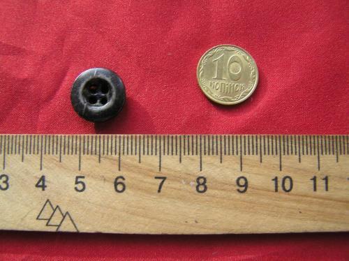Пуговица металл завальцованная, 1 штука. Раритет СССР