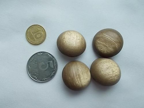 Пуговицы под янтарь переливающие, на ножке, 4 штуки Д=23 мм