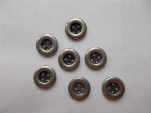 Пуговицы металл, 7 штук, Д=12 мм. Из СССР