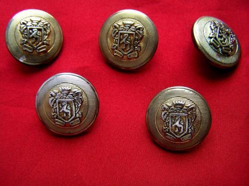 Пуговицы с гербом, 5 штук, Д = 20мм