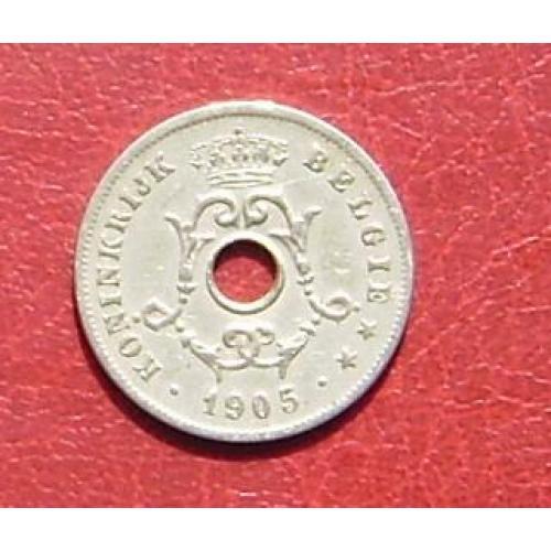 Бельгия 10 сантимов 1905 'BELGIE'