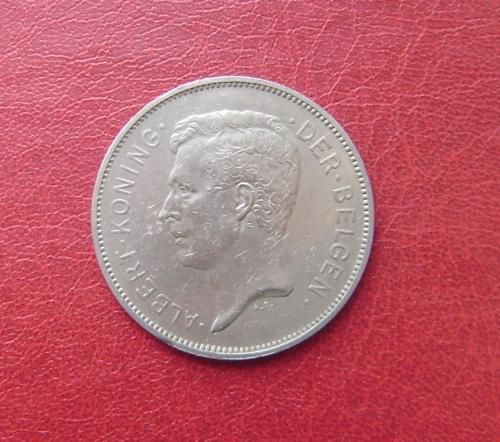 Бельгия 20 франков 1931 DER BELGEN. Альберт I. Редкая