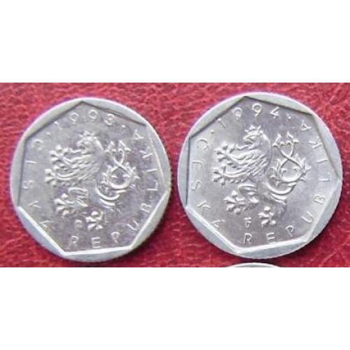 Чехия 20 геллеров 1993, 1994  см. прим