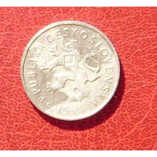 Чехословакия 2 кроны 1947. 1
