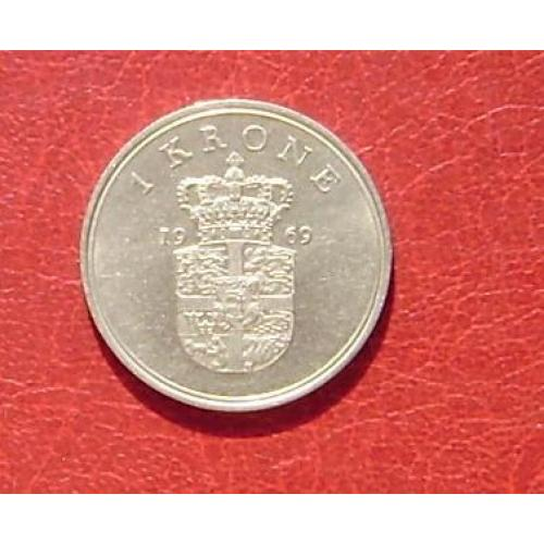 Дания 1 крона 1969