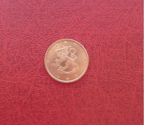 Финляндия 2 евроцента 2003 UNC. Редкая
