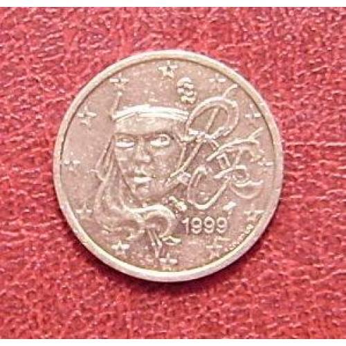 Франция 2 цента 1999