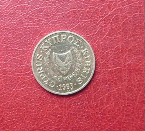Кипр 2 цента 1993