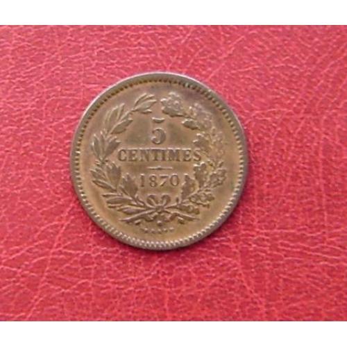 Люксембург 5 сантимов 1870