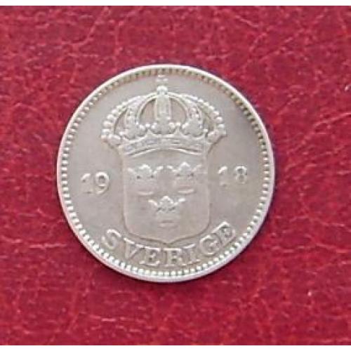 Швеция 25 эре 1918