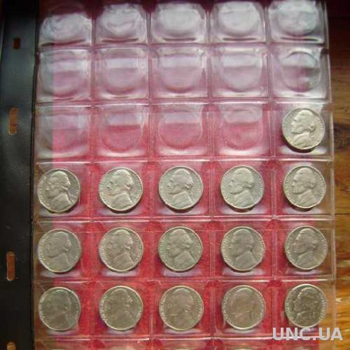 США 5 центов 1970-1987 см. прим.